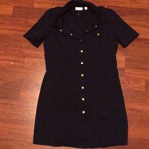 New York and Company Navy blue sailor dress